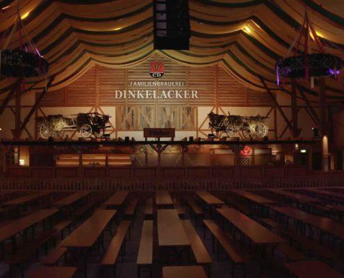 Drohne Indoor Innen Cannstatter Wasen Stuttgart - Bierzelt Klauss - FPV Drone Germany Indoor - Drohne Innen fliegen Luftaufnahmen