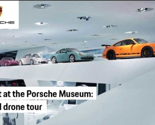 FPV Drone Porsche Museum Aerial Drone Tour